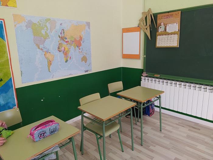 mapa enviado por SAP en colegio de Aragón